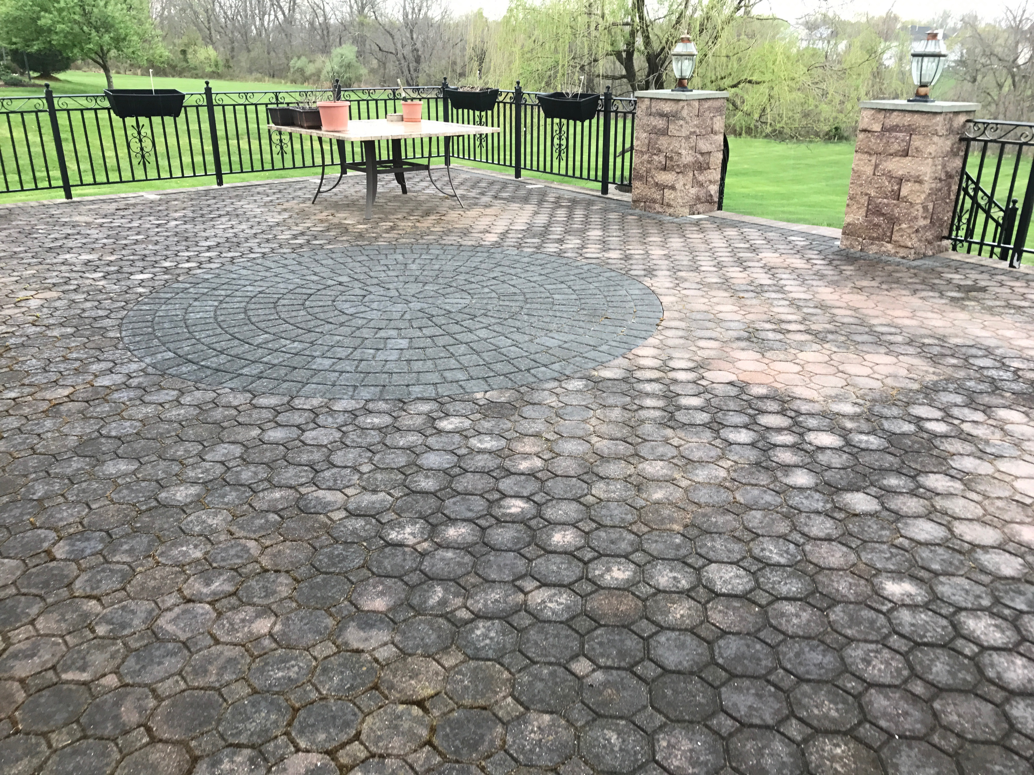 paver cleaning before picture