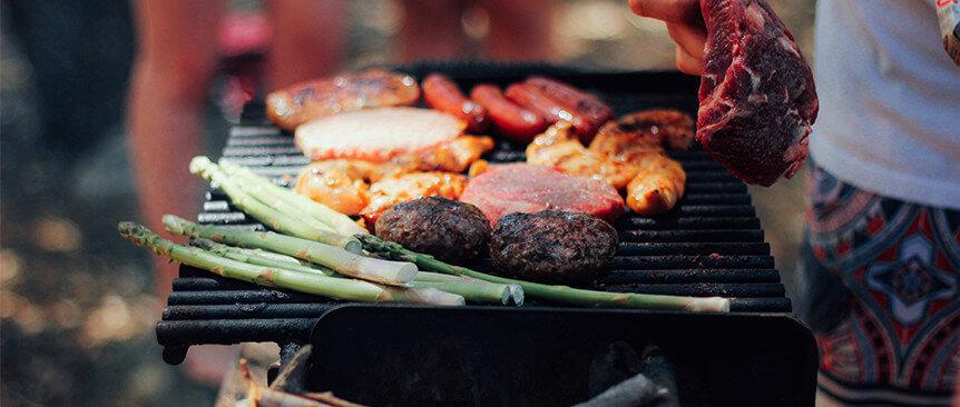 food on a bbq grill